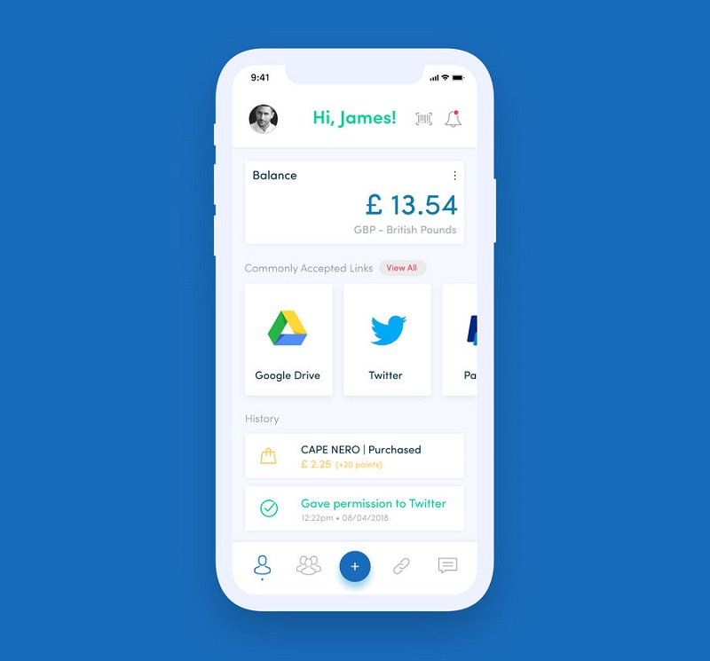simplicity of the mobile app