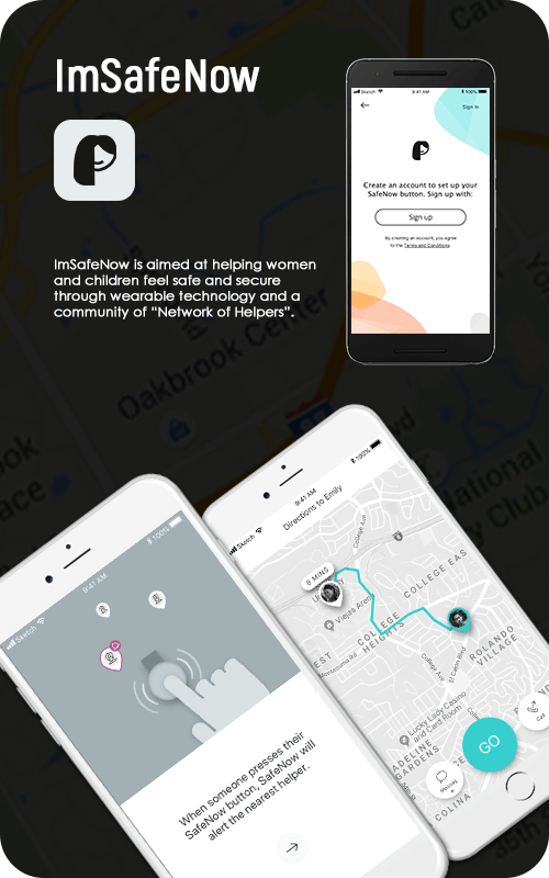 Mobile app of ImSafeNow