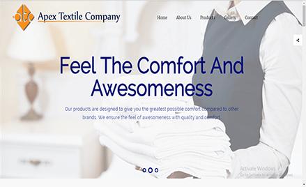 apex textile web application